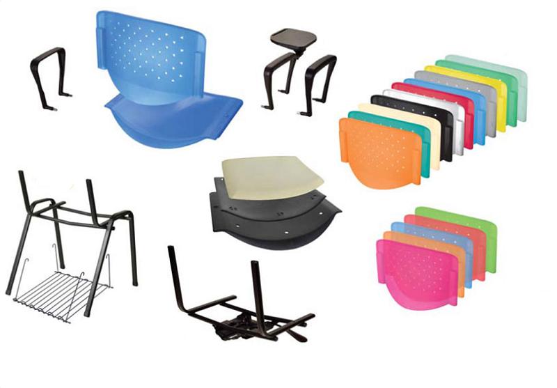 Cadeira Plástica Empilhável Prisma - Rhodes