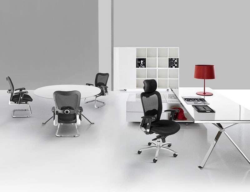 Cadeira Poltrona New Ergon diretor fixa Tela Mesh