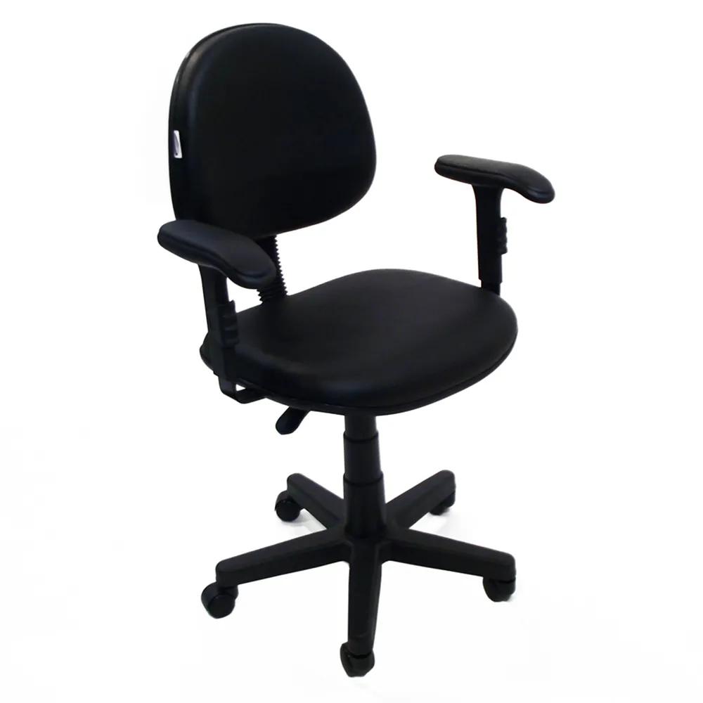 Cadeira Secretaria nr 17 com braços preta Acompanha certificado