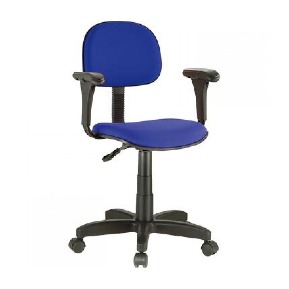 Cadeira Secretaria nr 17 com braços azul  Acompanha certificado