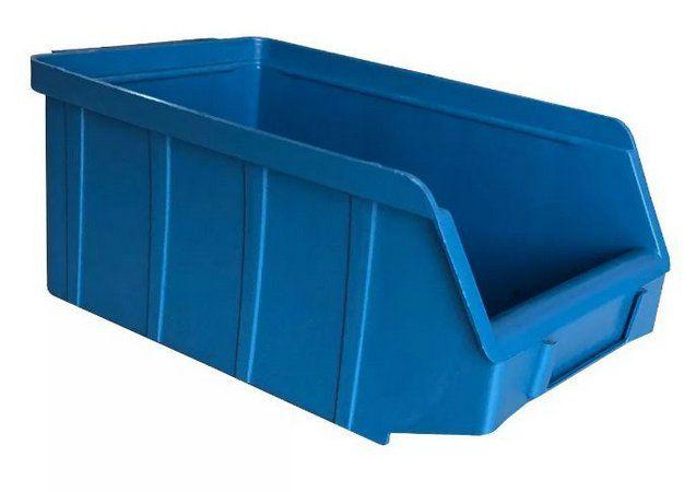 Caixa Organizadora Gaveteiro Plástico Bin nº 4 Pacote 48 unidades Preta