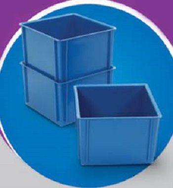 Caixa Plástica Fechada - Pacote com 8 unidades