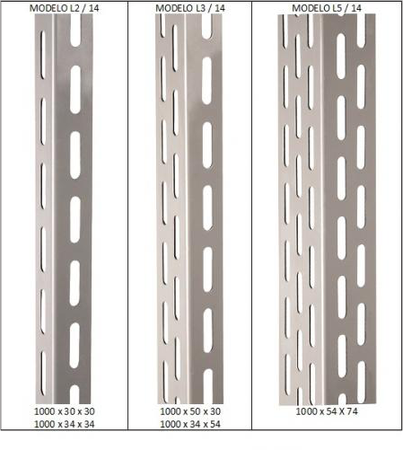 Coluna Para Estante Industrial L5  3 Mt - Ch14