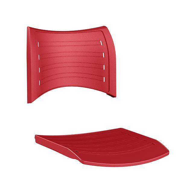 Assento e Encosto para cadeira plastica empilhável Iso Frisokar Vermelho