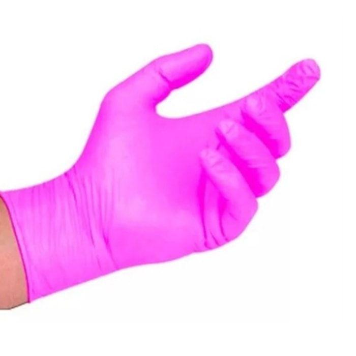 Luva para procedimento não cirúrgico sem pó – Borracha Sintética Supermax Powder Free Nitrilo Pink