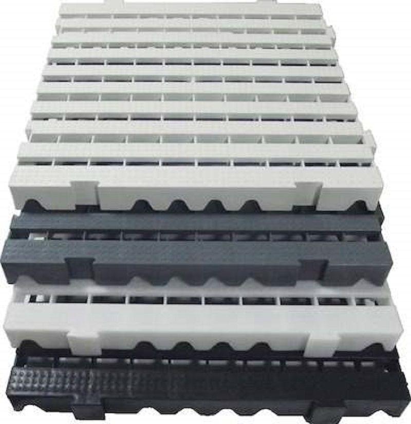 Pallet/Estrado/Piso Modular PP Branco - 25x50x2,5 Pacote com 10