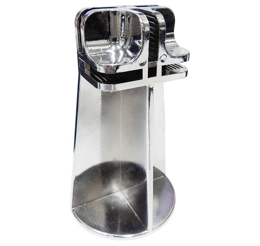Pés Conectivos para balcões aramados e vidros preto, pacote com 10 unidades