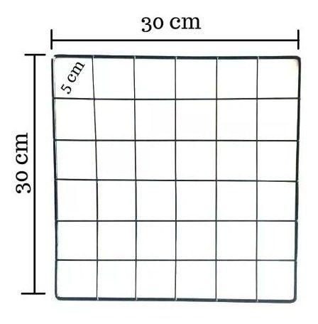 Telas Aramadas de aço 4 mm 30x30, pacote com 25