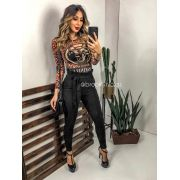 BODY DE TULE ANIMAL PRINT INFINITY