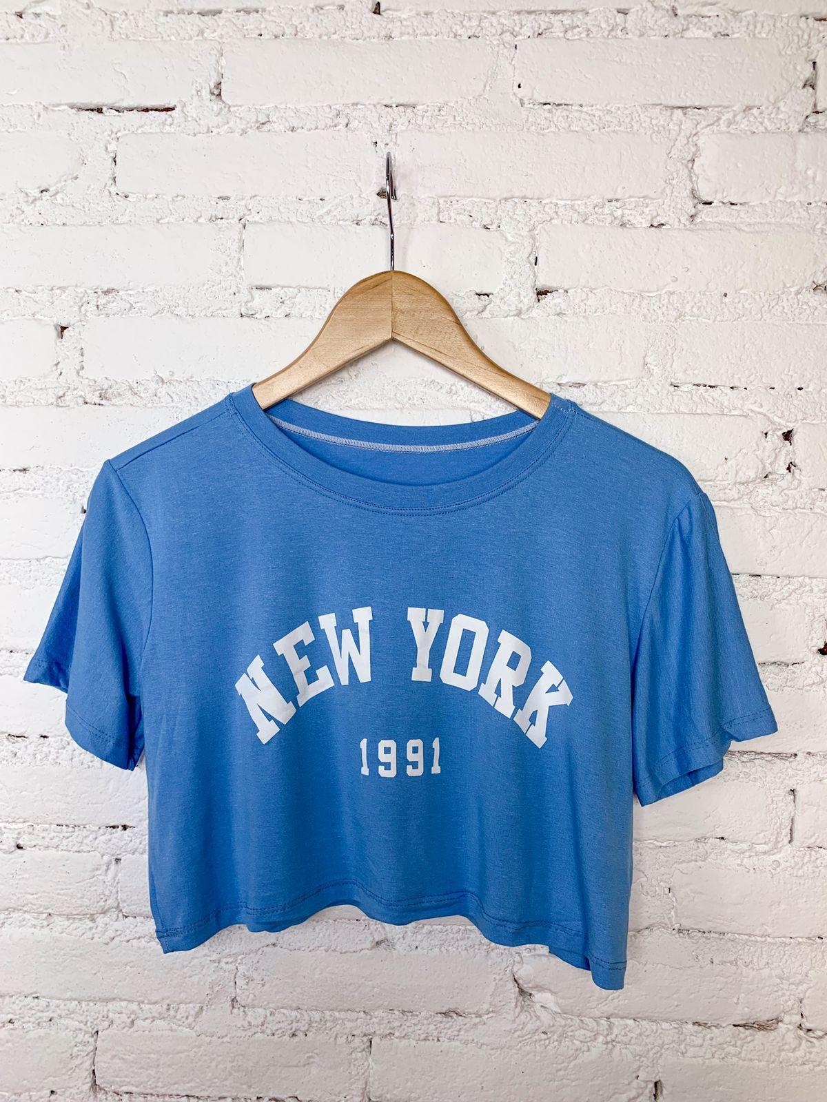 "Cropped de Malha ""New York"""