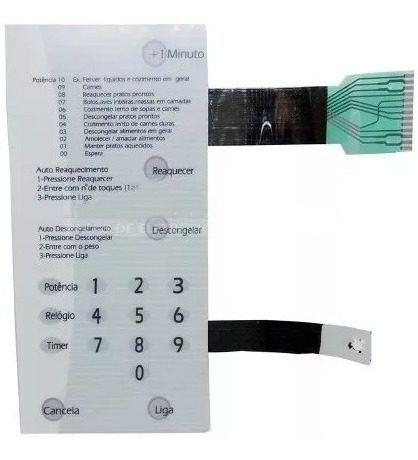 Membrana Painel Teclado Microondas Brastemp Bmp42 Br S/d