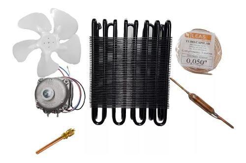 Kit Freezer Condensador 1/4 Capilar 050 Micro Motor 1/40 Biv