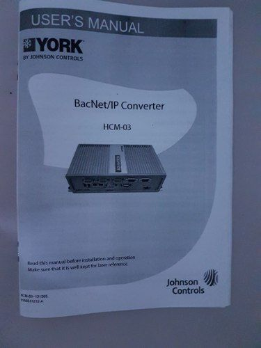 Conversor Bacnet Vrf York Hcm03