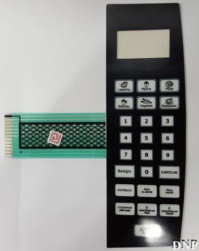 Membrana Painel Teclado Microondas Philco Pms24 - Mega Promoção