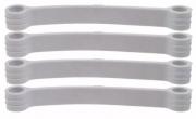 Kit 100 Tirantes Branco Para Lavadora Brastemp E Consul Original