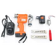 Flangeador Profissional Elétrico Cortador de Tubos + Bateria