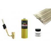 - Kit Para Solda Refrigeração Maçarico Portátil 2500°F Mapp - 13 Itens