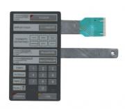 Membrana Painel Teclado Microondas Brastemp BMP28 CINZA COM DOURADOR