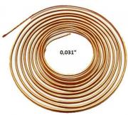 Tubo Capilar Cobre Para Refrigeração 0,031mm Rolo 3m
