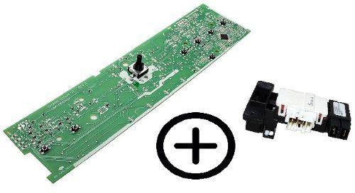 Placa Interface Brastemp + Trava Da Porta Bws Bwh Bwn