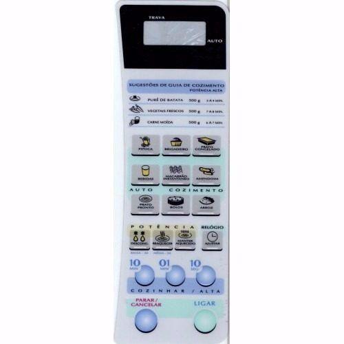 Membrana Painel Teclado Microondas Panasonic Nns50 Al28052 - Mega Oferta