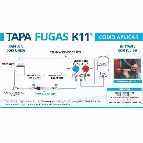 Tapa Fugas K11 Dose Unica 10ml Extreme Original