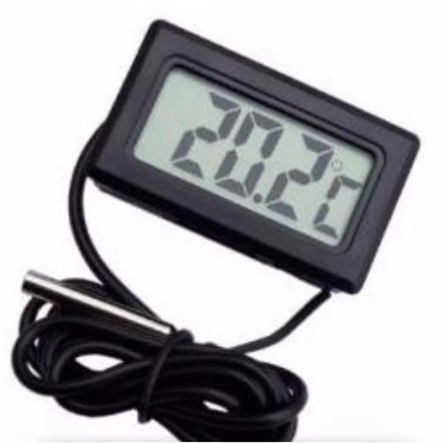 Termômetro Digital Lcd De -50 A +110 C Sonda 1 Metro 85667