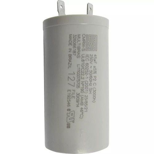 Capacitor Permanente 45mf 250v Lavadora Brastemp Consul 127v