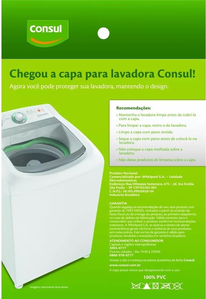 Capa P/ Máquina de Lavar 326076964 Consul
