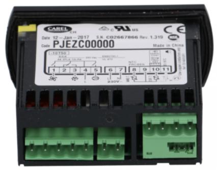 CONTROLADOR DE TEMPERATURA DIGITAL CONGELADOS 220V CAREL PJEZC00000 SEM SENSOR