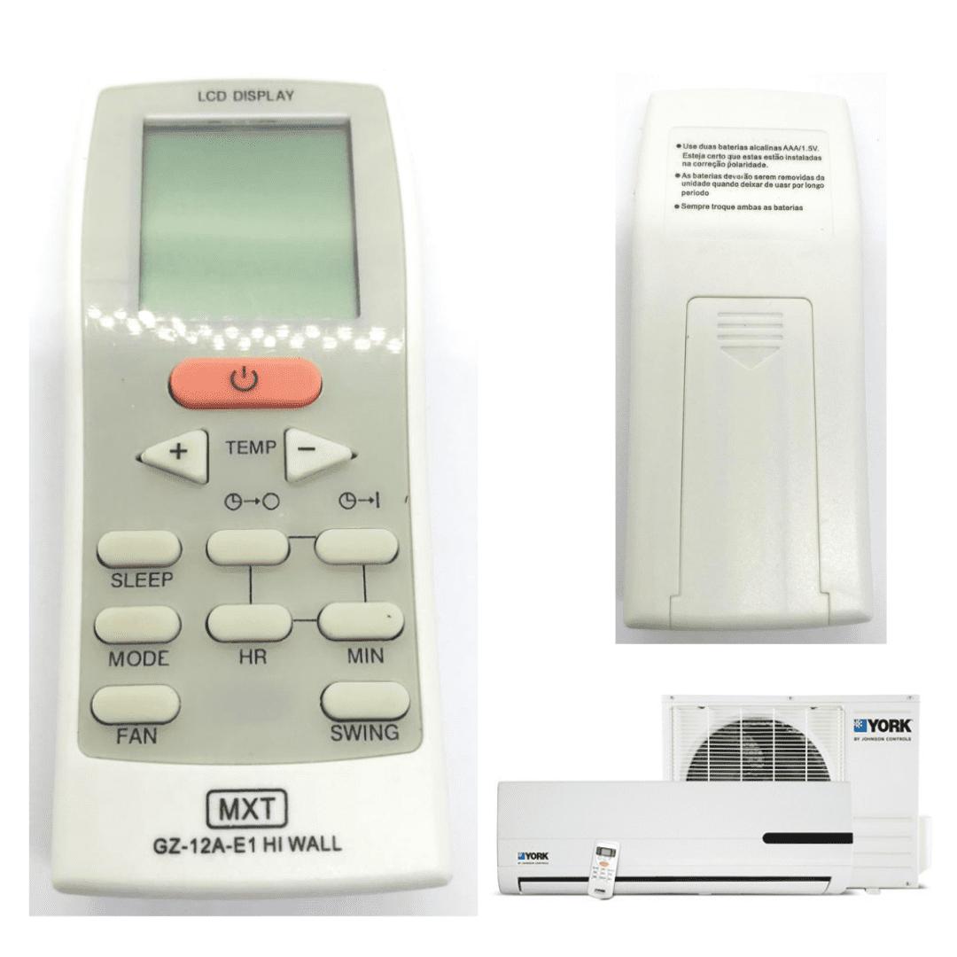 Controle Remoto Ar Condicionado YORK GZ-12A-E1 CO1315