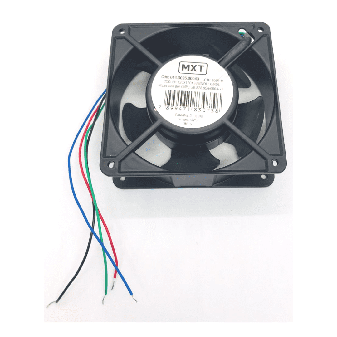 Cooler MXT 120 x 120 x 38 - 2500 CFM - Mega Promoção !!
