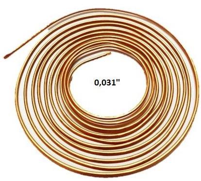 Kit 10 Tubos Capilar Cobre Para Refrigeração 0,031mm Rolo 3m