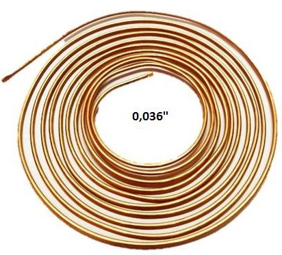 Kit 10 Tubos Capilar Cobre Para Refrigeração 0,036mm Rolo 3m