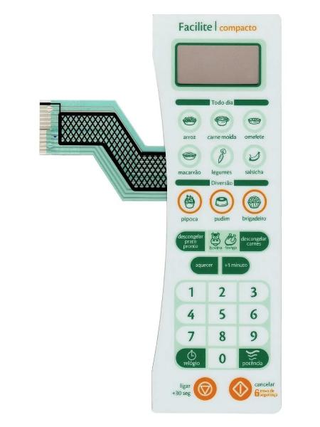 Membrana Painel Teclado Microondas Consul CMS25AB - FACILITE COMPACTO