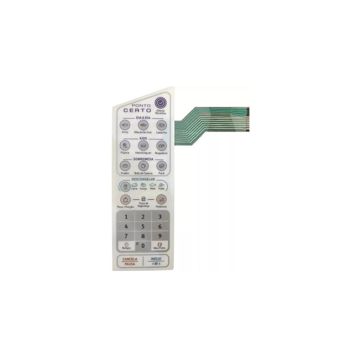 Membrana Teclado Microondas Electrolux Mep41