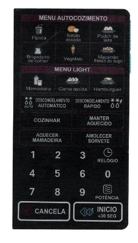 Membrana Teclado Microondas LG Ms3047g 13 VIAS