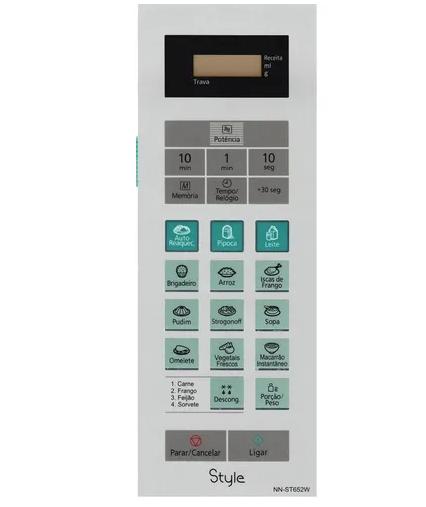 Membrana Teclado Microondas Panasonic Nnst652w