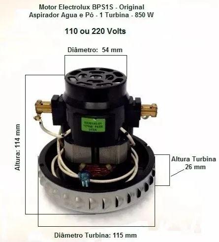 Motor Aspirador Gt3000 Electrolux 64503049 127v