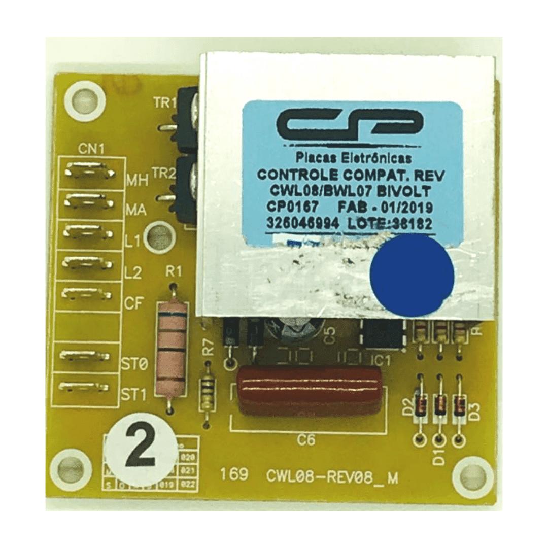 Placa Controle Reversão Brastemp Consul Cwl08 Bwl07 Cp0167