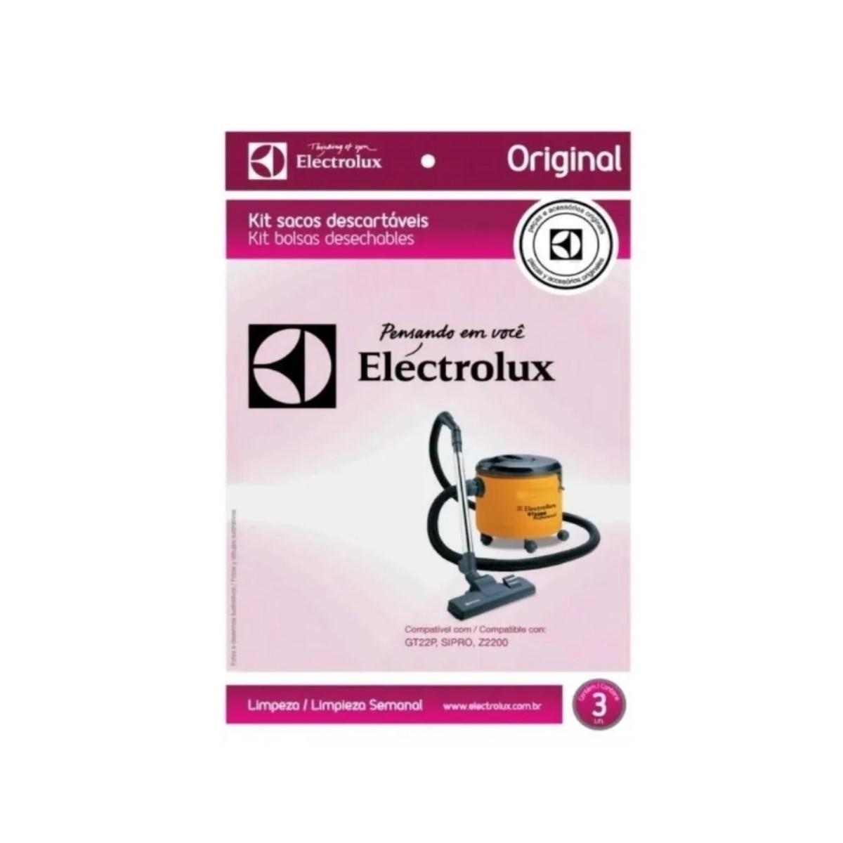 Saco Aspirador Pó Descartável C/ 3 Un. Electrolux 70035016