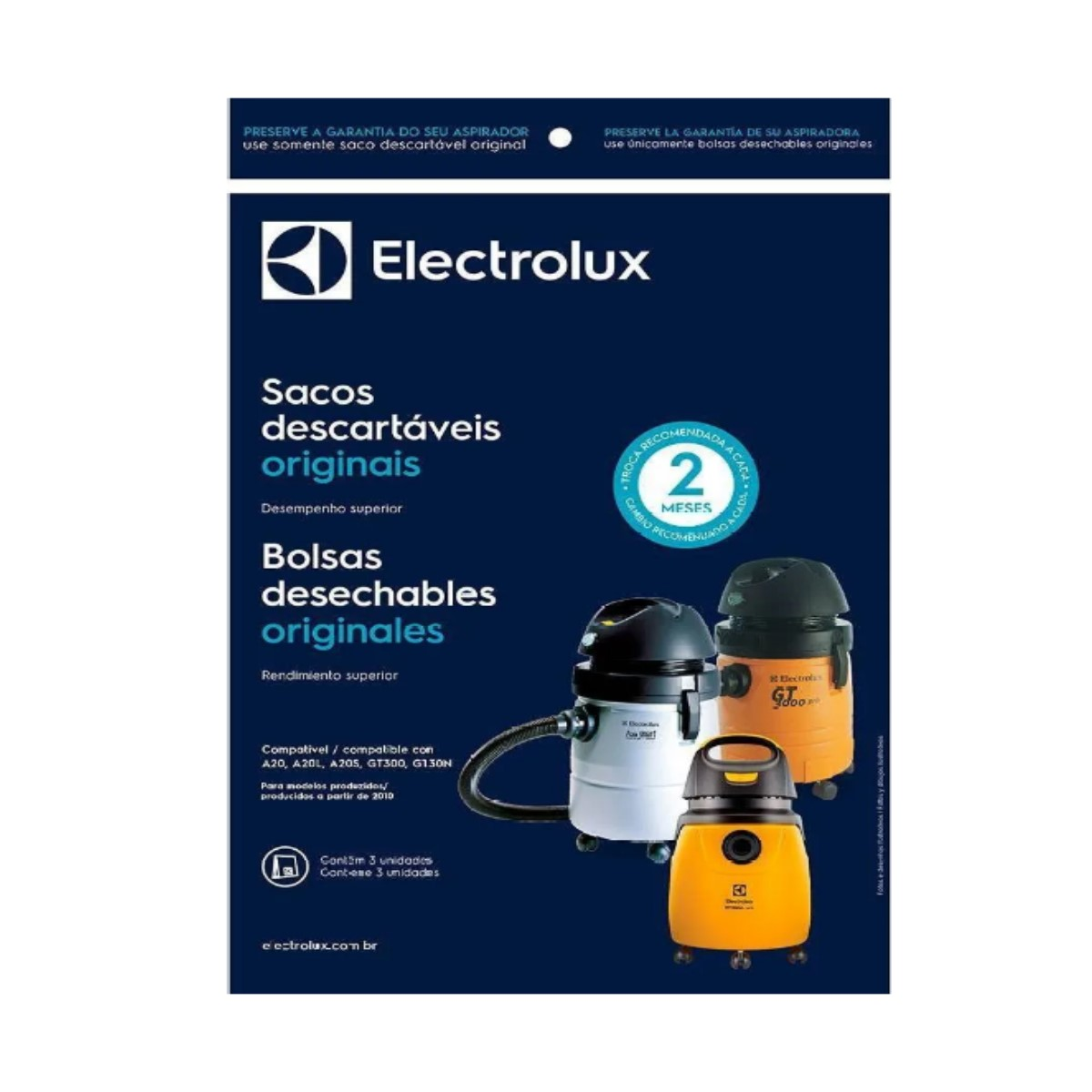 Saco Descartável Aspirador De Pó Electrolux Gt30n Gt300 A20