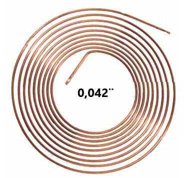 Tubo Capilar Cobre Para Refrigeração 0,042mm Rolo 3m