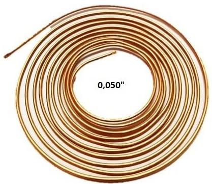 Tubo Capilar Cobre Para Refrigeração 0,050mm Rolo 3m