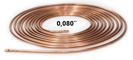 Tubo Capilar Cobre Para Refrigeração 0,080mm Rolo 3m