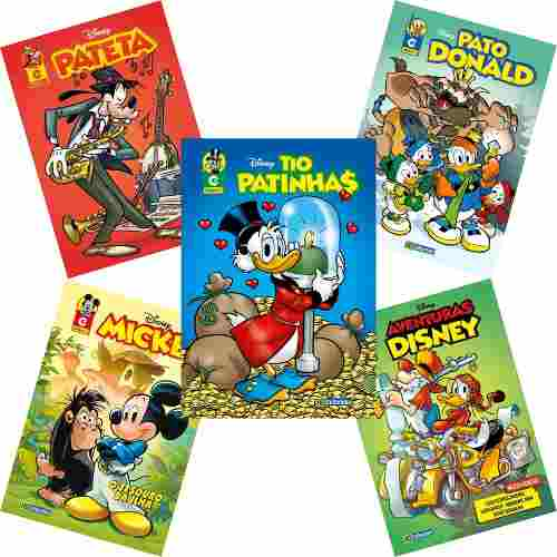 Kit 5 Edições Novas Hqs Gibis Disney 2019 Gibi Nº 2  - Vitoria Esportes