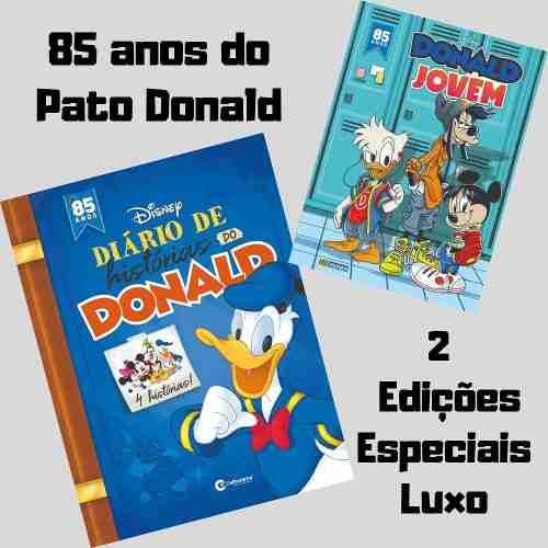Kit 85 Anos Do Pato Donald - Diário + Hq Donald Jovem  - Vitoria Esportes