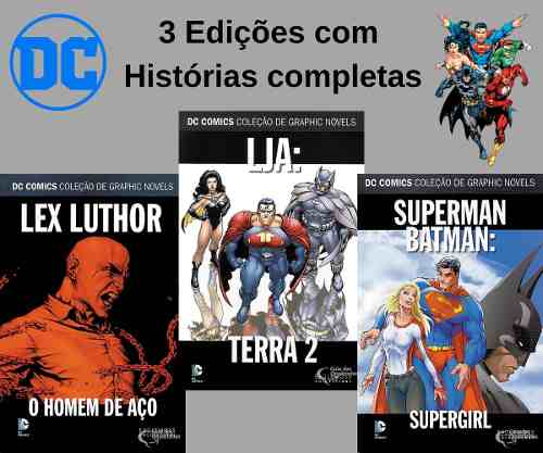 Kit Dc Eaglemoss Batman Superman Lja 3 Ed. Novos Lacrados  - Vitoria Esportes