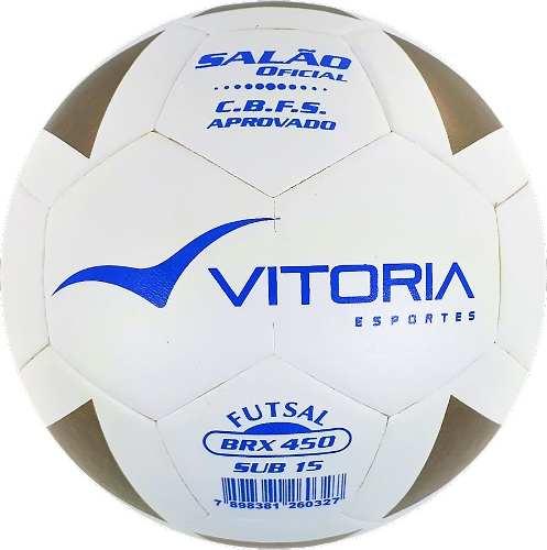 Kit 4 Bola Futsal Vitoria Brx Max 450 Sub 15 (13/15 Anos)