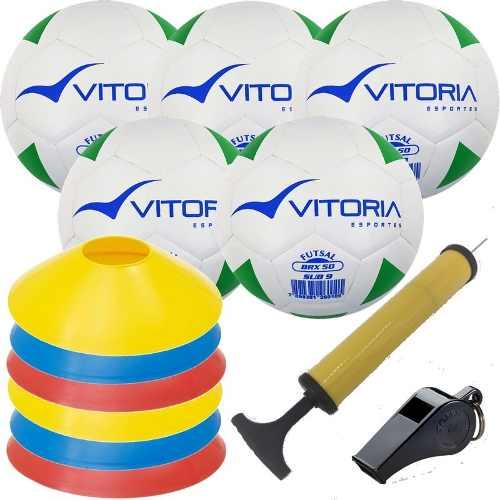 Kit Escolinha De Futsal Sub 9 Bola Max 50 + Acessórios  - Vitoria Esportes